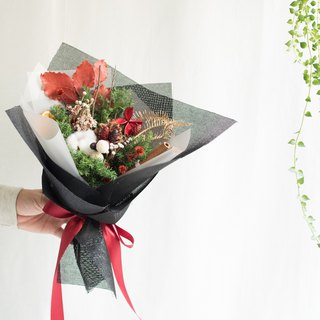 Building | Christmas Bouquet [Blessing Cherish] | Cotton & Pine Cones & Christmas & Blessing & Free Packaging