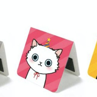 & Cabinet cat magnet bookmark - Cat's Party