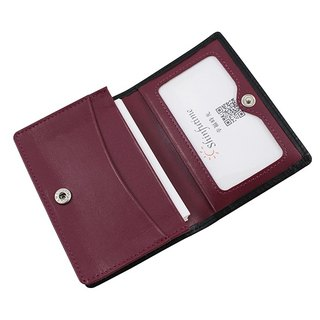 LAPELI │ mixed color card holder black / sweet potato purple