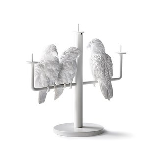 Parrot Candlestick / Parrot X Candle Holder_three parrot