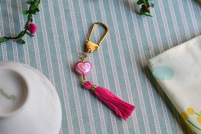 Passionate Peach - Magical Girl Tassel Keyring / Bag Charm