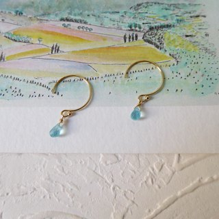 Pack 14K gold mini apatite sheer earrings