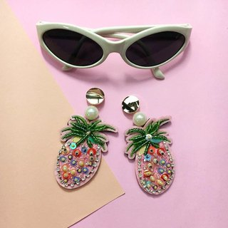 earrings : mix pine-apple