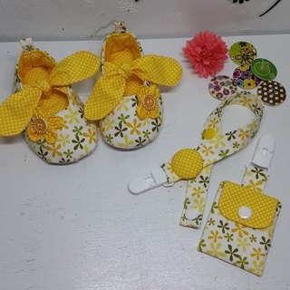 Flowers bow shoes baby births ritual talismans pocket clip + + pacifier clip