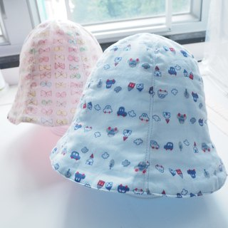 Quadruple gauze Baby Hat Car pattern