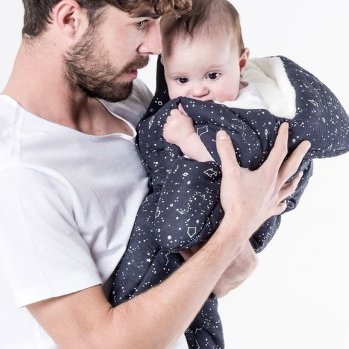 [Made in Spain] (Lightweight) Shark Bites BabyBites 100% Cotton Handmade Baby Sleeping Bag |