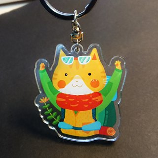 Camper the cat keychain