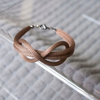 Lussli | Knitted Bracelet - INFINITY (Brown)