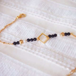 Anniewhere | Personality | Black Spinel & Pearl Bracelets / Anklets / Necklaces