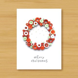 Handmade Roll Paper Stereo Card _ Cute Bubble Christmas Blessing Wreath _B ..... Christmas Card