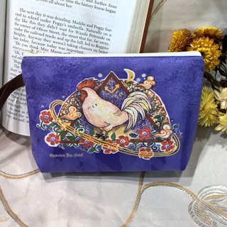 <Animals in the Secret Land> Rooster Clutch / Pouch