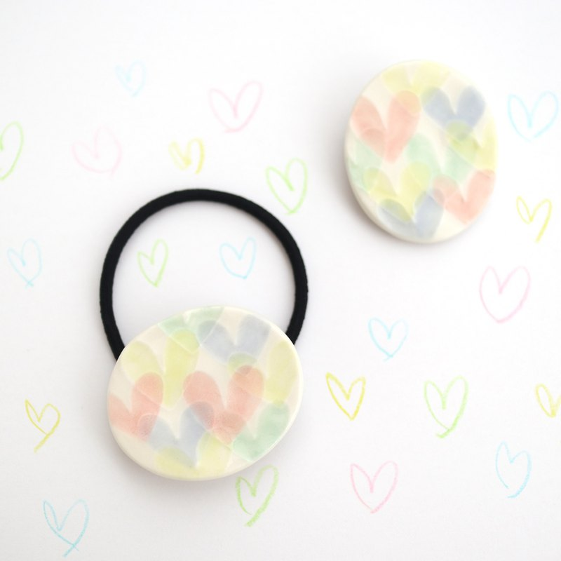 Heart Heart Heart (Brooch/Hair tie)