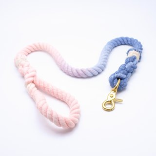COTTON DOG LEASHES - BLUE/PINK