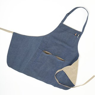 New color listing - Extended fashion work apron - Grey Blue