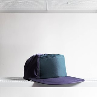River Hill - purple taro x dark green color diary Larry game Antique seven trim topped Benn baseball cap peaked cap / baseball cap