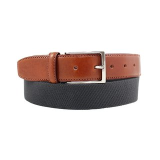 LAPELI │ Belgian elastic fabric belt - plain dark gray