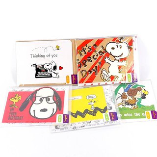 Goody Bag - Snoopy Limited Stereo Cards Lucky Bag 5 Enrolled