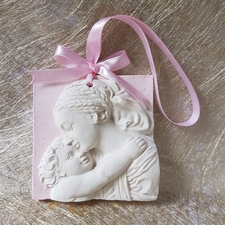 "Aroma Stone wall plaque -  "" Dreaming Mother and Child """