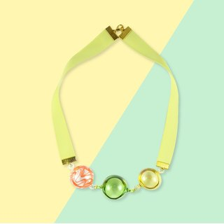 POP necklace mix (lime yellow)