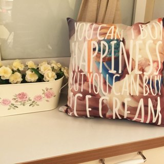 I choose ice cream. Can not buy happiness? That ice cream? - Home Decor Home Decor Pillow Home Furnishings Interior Design Car pillow Lunch break gift -JENN.Y