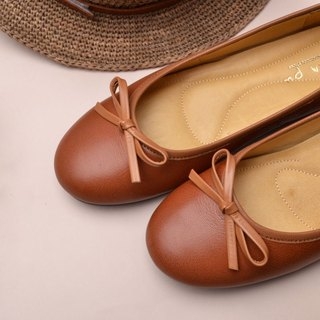 Handmade doll shoes vintage caramel