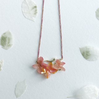 Flower jewellery Real flower Hydrangea Necklace