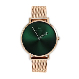 Customized pointer watch -36mm sun pattern green metal Milan strap (limited edition)