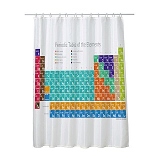 Science Shower Curtain - Elegant Chemical Element Table