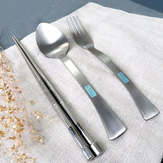 [KROLL] pure titanium chopsticks spoon set (all titanium chopsticks + all titanium fork + all titanium spoon)
