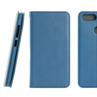 CASE SHOP ASUS ZenFone Max Plus (ZB570TL) Side Upholstery Case - Blue (4716779659283)