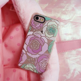 Black eye cushion air cushion anti-fall mobile phone shell [Pink Rose]