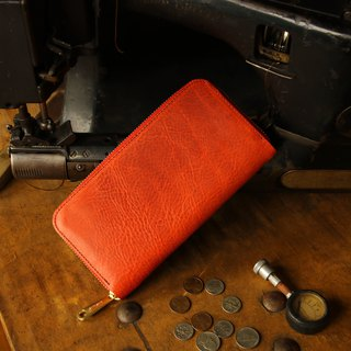 Made in Japan Cowhide Cream Banana made in JAPAN handmade leather wallet