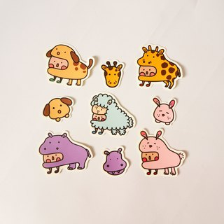 Animal small dot sticker