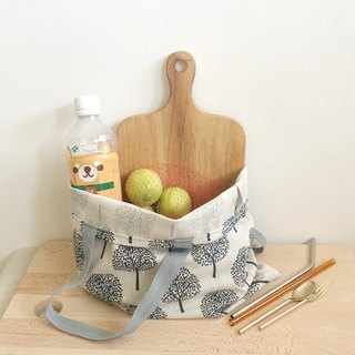 Simple tote bag/shopping bag  -  Trees /  Beige
