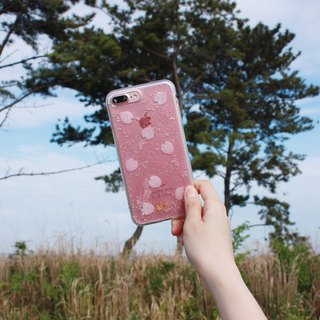 OLD PINK BLOSSOM - PHONE CASE / CLEAR PINK