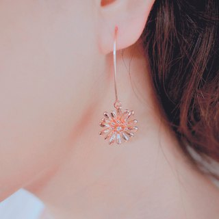 innocence series-rose gold colour dandelion<once upon a time*earring>