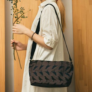 Crossbody Bag / Crested Myna No.5 / Blacksmith