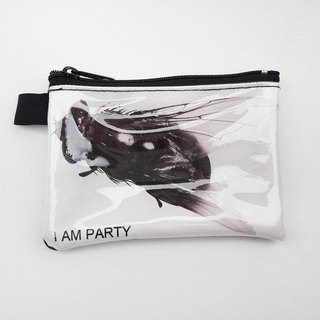 | I AM PARTY | handmade canvas leather purse - Housefly [Maijiu brand badges affixed or travel card x1]