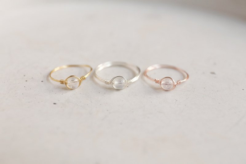 c6a885489 Ultra-small 4mm Moonstone copper tail ring group (a set of three: rose gold  / gold / silver) Simple natural crystal offer Moon - Designer World Smells  ...