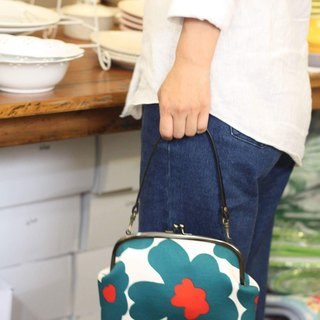 Nordic Dalat Flower Gold Bag - Cyan