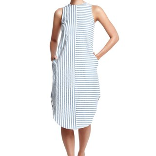 Skylar Mixed Stripe Midi Dress