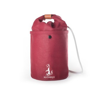 Arctomys EABA - waxed canvas bucket bag - RED