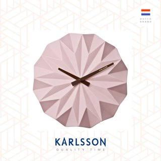 Karlsson, Wall clock Origami ceramic matt soft pink