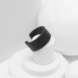 Recovery Find Life Meaning Text Ring (Fog Black)