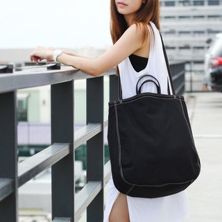 Oversize Tote Bag - black