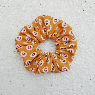 Small floral hair bundle _ yellow / large intestine ring donut hair ring