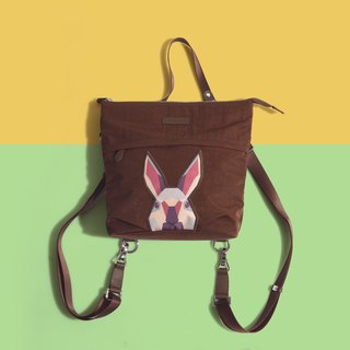 Khieng Atelier after Diamond Diamond Rabbit Rabbit sketch backpack - brown earth