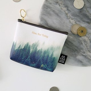 Second Mansion Natural Element Gold Ring Leather Coin Purse -05 Fog Forest, PLD60047