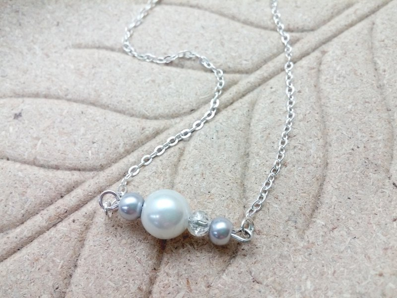 ♥ HY ♥ hand-made fresh and simple bracelet x x necklace crystal pearl glass pearl