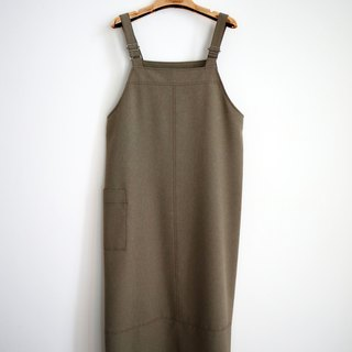 Pumpkin Vintage. Ancient plain large pocket sling dress